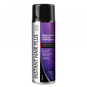 Instant Hair Plus Maquiagem Calvície Spray Preto 300mL