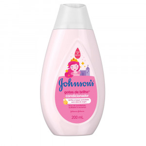 Condicionador Johnsons Baby Gotas de Brilho Óleo Argan 200mL