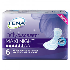 Absorvente Noturno Tena Lady Discreet Maxi Night c/6