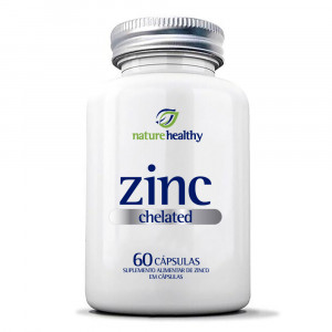 Zinco Quelato Nature Healthy 7mg c/ 60 Cápsulas