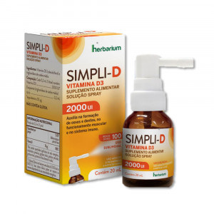 Simpli D 2000UI Vitamina D-Colecalciferol em Spray Oral 20mL