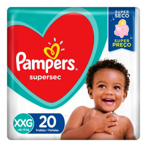 Fralda Pampers Supersec XXG c/20 Unidades