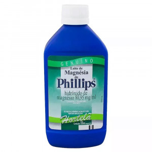 Leite de Magnésia Phillips Hortelã Susp Oral 1200mg/mL 350mL