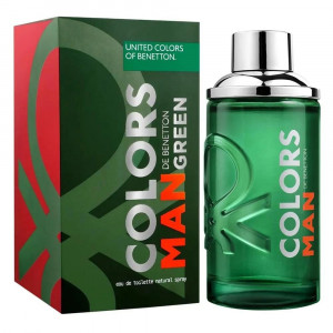 Benetton Colors Man Green EDT Perfume Masculino 200mL