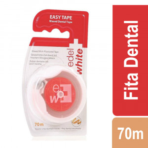 Fita Dental Suiça Edel-White Encerada Easy Tape 70M