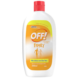 Off Family Repelente Loção com Aloe Vera 200mL